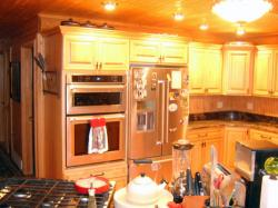 Click to enlarge image  - Custom Designed Kitchen  - to Fit Right In to this Log Home